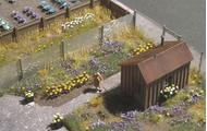 Busch 1207 - 120 Marguerites - Fleurs miniatures 1:87 - HO