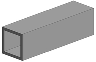 Evergreen 255 - Tube carré 2 pièces - 7,9 X 7,9 mm