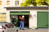 Bâtiment miniature : Double garage - 1:87 H0 - Auhagen 11456