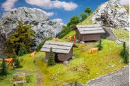 Bâtiments miniatures : 2 Granges à foin 1:87, HO - Faller 130636