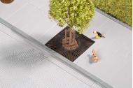 Décor miniature : Grille de trottoir pour arbre - 1:87 - Auhagen 42657