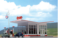 Busch 1005 - Station Essence ESSO 1:87 - HO