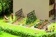 Végétation miniature :  Haricots sur barres  -  1:87 - Noch 14200