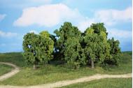 Assortiment 12 arbres miniatures 8-13 cm