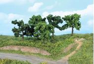 Végétation miniature : 5 arbres fruitiers 8 -10 cm - Heki 1835, 01935