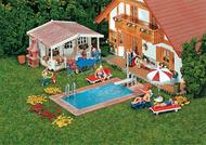 Accessoires miniatures : FAL-180542 – Piscine & abri de jardin