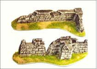 Murs en pierre reconstituée pour jeux de plateaux, 28 mm, wargame - FR 21057