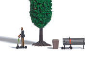 Décors miniatures : 2 Trottinettes électriques - 1:87 HO - Busch 07867 7867