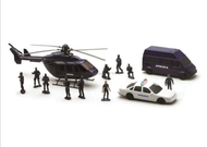 Coffret police 3 véhicules + personnages - New Ray 63345