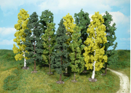 Heki 1762 - Assortiment de 10 arbres miniatures 14-18 cm