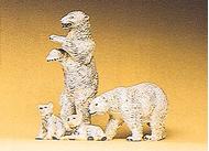 Preiser 20384 - Ours Blancs miniatures 1:87