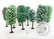 Végétation miniature : 10 arbres feuillus 10-13 cm 1:87 - Jordan 7A