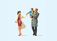 Preiser 63096 - Couple avec enfants miniatures 1:32