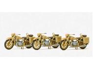Motos BMR12 miniature Allemande 1:87 - Preiser 16572