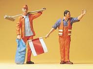 Figurines miniatures : Employés de la voie publique 1:22,5 - G - Preiser 45008