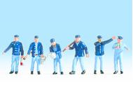 Noch 15282 : Figurines miniatures de cheminots et agents gare - 1:87 HO