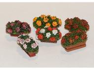 Décors miniatures : 6 sets de fleurs en jardinieres - 1:35 - Plus Model 377