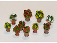 Décors miniatures : 10 pots de fleurs - 1:35 - Plus Model 380