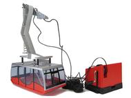 Téléphérique miniature manuel - Cabine rouge - 1/32 - JC-89093-5650