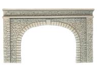 Décors miniature : Entrée de tunnel en pierre naturelle, double voie - 1:87 - Noch 58062