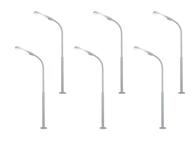 Set de 5 Lampadaires de rue - led blanche 1:87