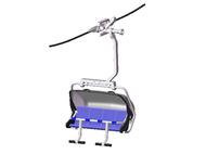 Télésiège bleu et gris pour téléphérique miniature - 1/32 - JC 87250