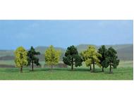 Heki 1140 - 8 arbres miniatures de 4 cm