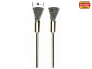 2 brosses en acier en forme de pinceau fin ø 8,0 mm - PROXXON 28951