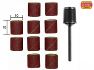 10 bandes abrasives en corindon ø 10,0 mm avec support -  PROXXON 28980