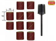 10 bandes abrasives en corindon ø 10,0 mm avec support -  PROXXON 28980