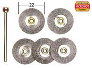 5 brosses en acier en forme de disque ø 22,0 mm - PROXXON 28952
