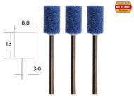 3 meules en corindon ø 8,0 mm - PROXXON 28781