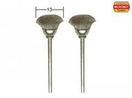 2 brosses en acier en forme de pinceau rond ø 13,0 mm - PROXXON 28953
