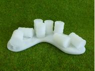 Baricade de barils miniatures 28 mm
