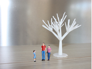 Arbre design miniature pour maquettes d'architecture / architectes