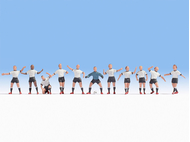 Figurines miniatures : Equipe d'Allemagne de football - Noch 15965
