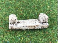 Accessoires miniatures de crèche : 1 banc 50 x 15 mm - FR 21113