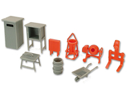 Set construction chantier miniature 1:87 - Kibri 38140