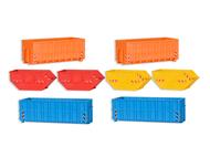 Containers, bennes miniatures de chantier 1:87 - Kibri 38648
