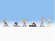Snowboardeurs miniatures 1:87 - Noch 15826