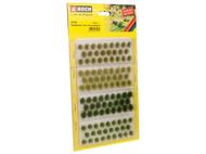 NOCH 7127 - 104 touffes d'herbes vert clair et vert foncé