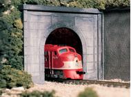 Entrées de tunnel en béton 1 voie 1:160 - Woodland C1152