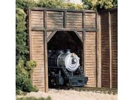 Entrée de tunnel en bois  1 voie 1:87 - Woodland C1254