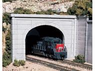 2 entrées de tunnel miniatures en béton double voies au 1:160