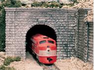 Entrée de tunnel en pierre  1 voie 1:48 - Woodland C1267