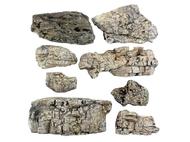 8 Rochers gris miniatures