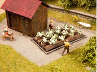 Décorations miniatures : 16 plants de chou-fleur 3 cm x 6 cm - 1/87 HO - Noch 13216