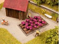 Vagétations miniatures : 16 plants de chou rouge 3 cm x 6 cm - 1/87 HO - Noch 13218