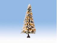 Végatation miniature : Arbre de noel illuminé 12 cm 30 leds - 1:87, 1:120, 1:160 - Noch 22130