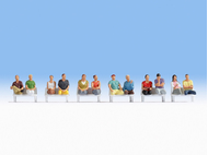 Figurines miniatures : Passagers assis (sans pieds)1:87 - Noch 15250